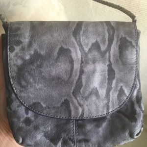 BR Leather Crossbody Python Party Purse